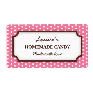 Etiqueta de enlatado rosada elegante del tarro del etiqueta de envío