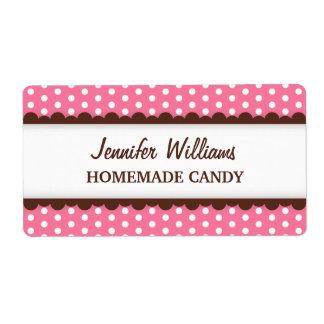 Etiqueta de enlatado rosada elegante del tarro del etiquetas de envío