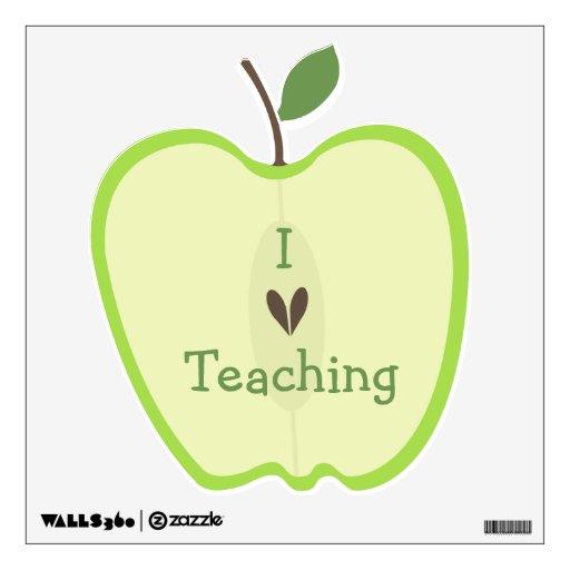 Etiqueta de enseñanza de la pared amor verde de Ap