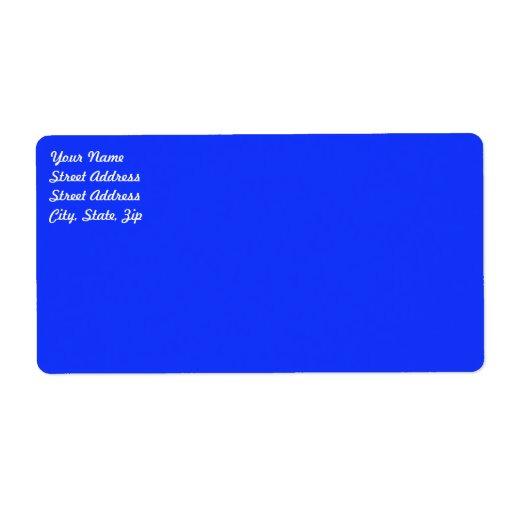 Etiqueta de envío azul brillante