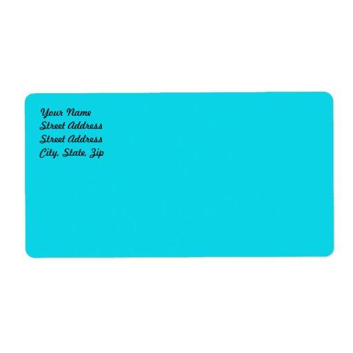 Etiqueta de envío azul de la aguamarina