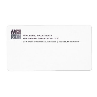 Etiqueta de envío de Avery del monograma de cuatro
