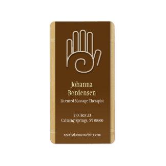 Etiqueta de envío de bambú de la terapia del