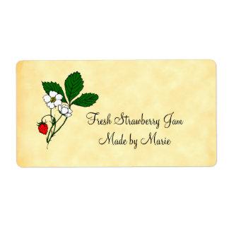 Etiqueta de envío de encargo de la fresa