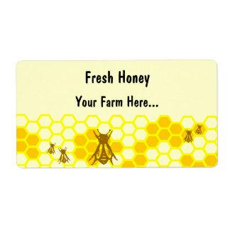 Etiqueta de envío de encargo del panal de la abeja