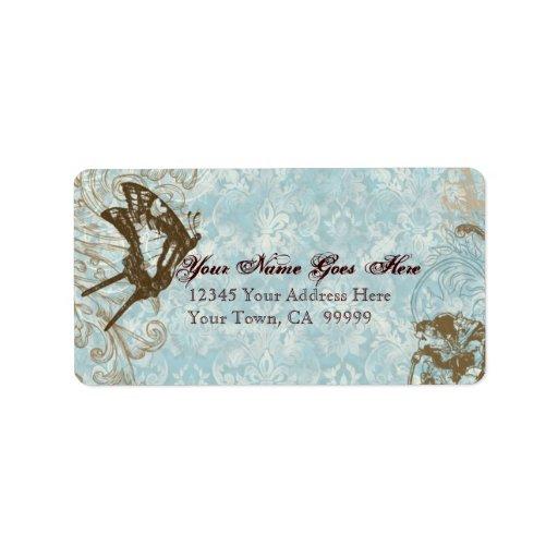 Etiqueta de envío de envío del boda de Fleur di Ly
