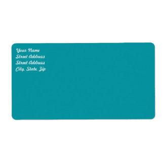 Etiqueta   de envío de la aguamarina etiquetas de envío