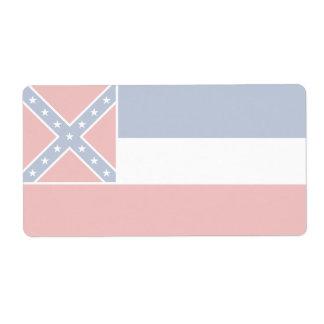 Etiqueta de envío débil de la bandera de