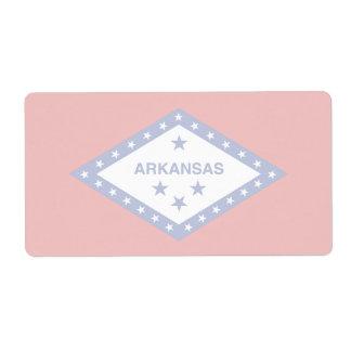 Etiqueta de envío débil de la bandera de Arkansas