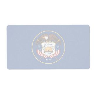 Etiqueta de envío débil de la bandera de Utah