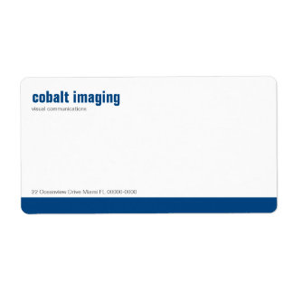 Etiqueta de envío del cobalto del panel de la líne