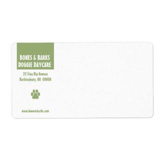 Etiqueta de envío del cuidado del perro de la impr