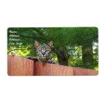 Etiqueta de envío del gato de la sabana