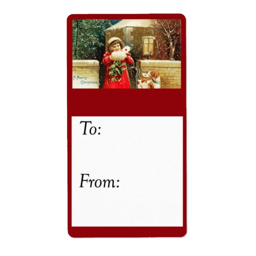 Etiqueta de envío del regalo de las tarjetas de Na