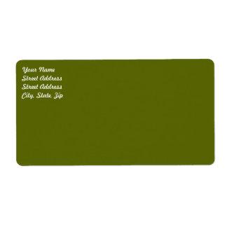 Etiqueta de envío del verde verde oliva