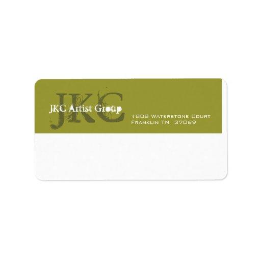 Etiqueta de envío inicial del negocio del blanco t