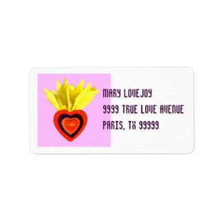 Etiqueta de envío sagrada del corazón