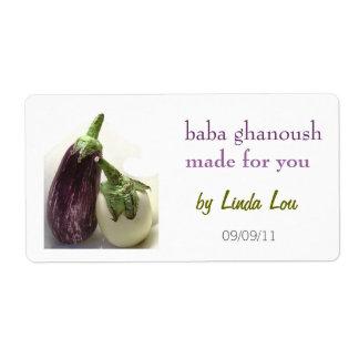 Etiqueta de Ganoush del bizcocho borracho Etiquetas De Envío
