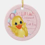 Etiqueta de goma del regalo del ornamento del pato ornatos