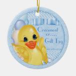 Etiqueta de goma del regalo del ornamento del pato ornamentos de reyes magos