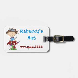 Etiqueta de hadas del equipaje del chica etiquetas para equipaje