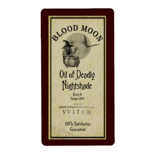 Etiqueta de Halloween Avery de la luna de la sangr Etiquetas De Envío