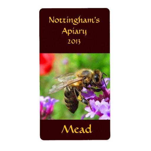 Etiqueta de Honeywine de la aguamiel Etiqueta De Envío