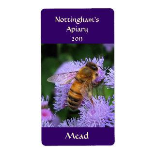 Etiqueta de Honeywine de la aguamiel Etiquetas De Envío