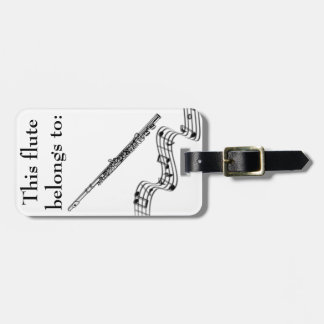 Etiqueta de identificación de la flauta etiqueta para equipaje