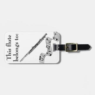 Etiqueta de identificación de la flauta etiquetas de maletas