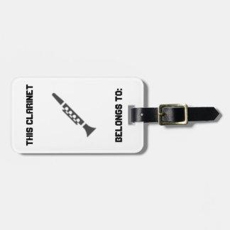 Etiqueta de identificación del Clarinet Etiquetas Para Equipaje