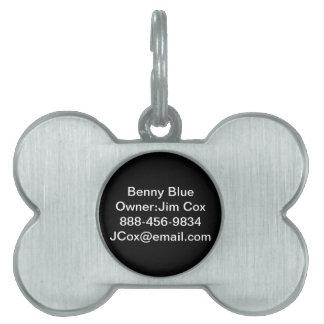 Etiqueta de identificación del perro placas mascota
