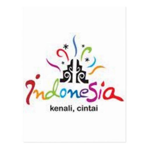 etiqueta de Indonesia Tarjetas Postales