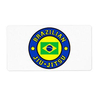 Etiqueta de Jiu-Jitsu del brasilen@o Etiqueta De Envío