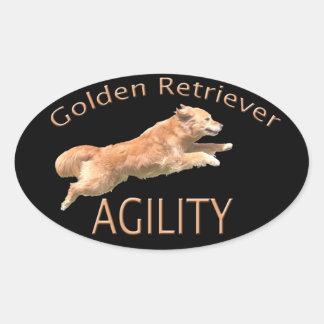 Etiqueta de la agilidad del golden retriever