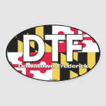 Etiqueta de la bandera de DTF Maryland