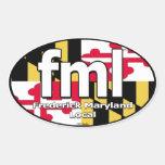 Etiqueta de la bandera de FML Maryland