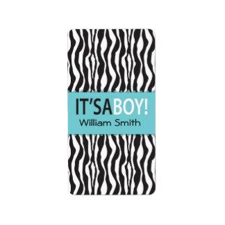 Etiqueta de la barra de Hershey del muchacho elega Etiqueta De Dirección