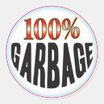 Etiqueta de la basura