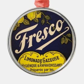 Etiqueta de la bebida del vintage de Limonade Adorno Navideño Redondo De Metal