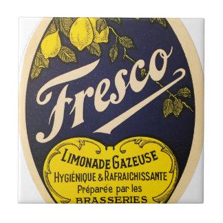 Etiqueta de la bebida del vintage de Limonade Azulejo Cuadrado Pequeño