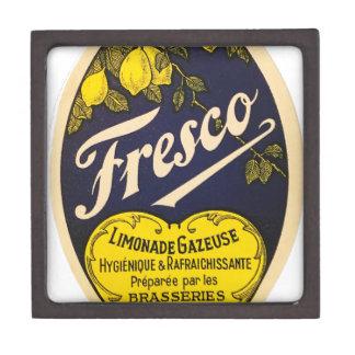 Etiqueta de la bebida del vintage de Limonade Caja De Regalo De Calidad