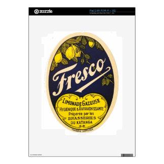 Etiqueta de la bebida del vintage de Limonade iPad 2 Calcomanía