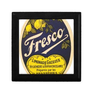 Etiqueta de la bebida del vintage de Limonade Joyero Cuadrado Pequeño