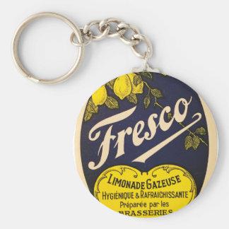 Etiqueta de la bebida del vintage de Limonade Llavero Redondo Tipo Pin