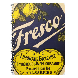 Etiqueta de la bebida del vintage de Limonade Notebook