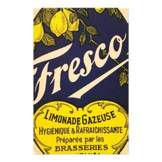 Etiqueta de la bebida del vintage de Limonade Papeleria