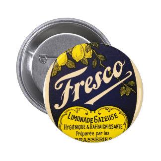 Etiqueta de la bebida del vintage de Limonade Pin Redondo De 2 Pulgadas