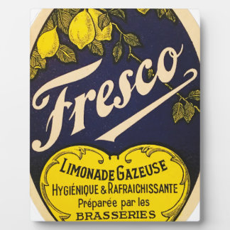 Etiqueta de la bebida del vintage de Limonade Placas De Plastico