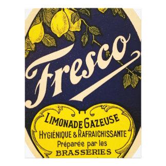 Etiqueta de la bebida del vintage de Limonade Plantillas De Membrete